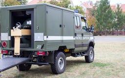 Poland, Poznan -October 1, 2016. Polish sapper patrol vehicle. Stock Images