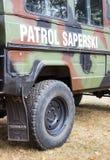 Poland, Poznan -October 1, 2016. Polish sapper patrol vehicle. Royalty Free Stock Photo
