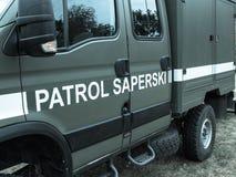 Poland, Poznan -October 1, 2016. Polish sapper patrol vehicle. Stock Photos