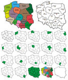 Poland Province Borders - Layers ON or OFF. Very useful work, U can customize this as much as U want by switching layers ON or OFF Royalty Free Stock Image
