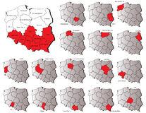 Poland provinces maps Stock Image