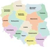 Poland - regiões/voivodeships Ilustração Royalty Free
