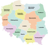 Poland - regions / voivodeships royalty free illustration