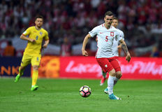 Poland - Romania. WARSAW, POLAND - JUNE 10, 2017: 2018 World Cup Qualifications Stock Photo