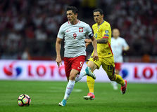 Poland - Romania. WARSAW, POLAND - JUNE 10, 2017: 2018 World Cup Qualifications Stock Image
