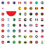 Poland round flag icon. Round World Flags Vector illustration Icons Set. Poland round flag icon. Round World Flags Vector illustration Icons Set Royalty Free Stock Photo