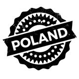 Poland rubber stamp Royalty Free Stock Photography