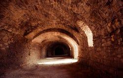 poland s för slott för bishopslottkielce tunnel Arkivfoto