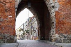 poland sandomierz En karakteristisk sikt av staden Fotografering för Bildbyråer