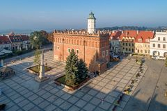 poland sandomierz Urząd Miasta i targowy kwadrat zdjęcie royalty free