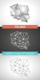 Poland set of grey and silver mosaic 3d polygonal maps Stock Images