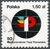 POLAND - 1978: shows Fair Emblem, devoted 50th International Poznan Fair Royalty Free Stock Images