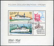 POLAND - 1986: shows Ferryboats Wilanow and Wawel Stock Images
