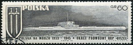 POLAND - 1970: shows submarine Orzel Eagle Royalty Free Stock Photography