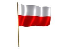 Poland silk flag Royalty Free Stock Image