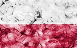 Poland smoke flag isolated on a white background. Poland smoke flag isolated on a white background Stock Photos