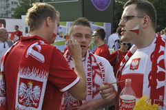 Poland Soccer fans. Royalty Free Stock Image