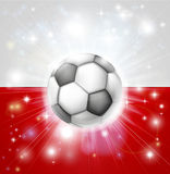 Poland soccer flag Stock Photography