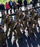 Poland soldiers parade Royalty Free Stock Image