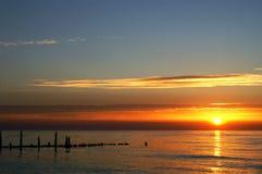 poland solnedgång Arkivfoto
