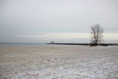 Winter Sopot sea. Poland Sopot. Winter Baltic sea. Photo was taken in january 2016 Stock Images
