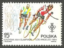 Olympic Games in Los Angeles, Bicycling Stock Images