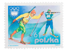 Poland - about 1976: stamp,  showing the Olympics in , Stock Photos