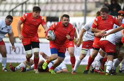 Poland - Switzerland Rugby game royalty free stock photo