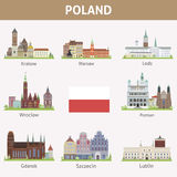 Poland. Symbols of cities Stock Images