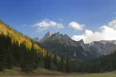 Poland, Tatra Mountains, Giewont Peak, Sunlit Royalty Free Stock Image