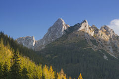Poland, Tatra Mountains, Giewont Peak, Sunlit Royalty Free Stock Images