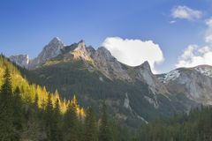 Poland, Tatra Mountains, Giewont Peak, Sunlit Royalty Free Stock Photo