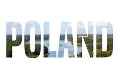 Poland text word Royalty Free Stock Photo