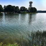 Poland.The红外图象的湖 图库摄影