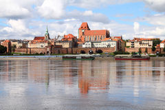 Poland - Torun. City divided by Vistula river between Pomerania and Kuyavia regions. The medieval old town is a UNESCO World Heritage Site Stock Photos
