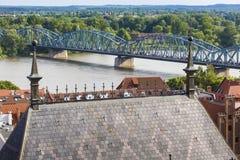 Poland - Torun, city divided by Vistula river between Pomerania Stock Photo