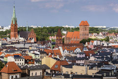 Poland - Torun, city divided by Vistula river between Pomerania Stock Photography