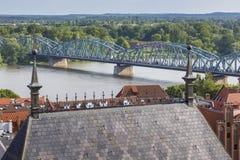 Poland - Torun, city divided by Vistula river between Pomerania Royalty Free Stock Photo