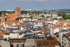 Poland - Torun, city divided by Vistula river between Pomerania Stock Images