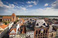 Poland - Torun, city divided by Vistula river between Pomerania Stock Photos