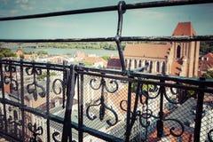 Poland - Torun, city divided by Vistula river between Pomerania Royalty Free Stock Photos