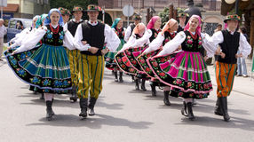 Poland traditional folk group Stock Photos
