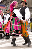 Poland traditional folk group Stock Photography