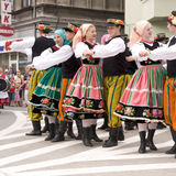 Poland traditional folk group Royalty Free Stock Photo