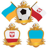 Poland and ukraine emblems Stock Images