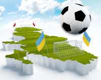 Poland and Ukraine European Soccer championship Royalty Free Stock Images