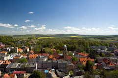 Poland, view from Bolkow castle Stock Photography