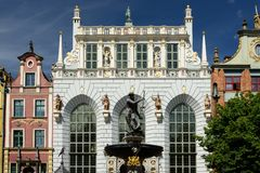 Gdansk old city in Poland. Poland, View on the old city in Gdansk is located at the Baltic sea Royalty Free Stock Image