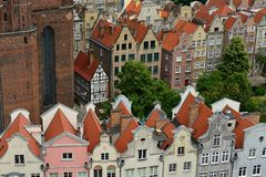 Gdansk old city in Poland. Poland, View on the old city in Gdansk is located at the Baltic sea Royalty Free Stock Photo
