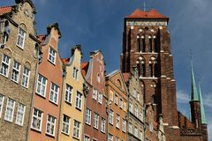 Gdansk old city in Poland. Poland, View on the old city in Gdansk is located at the Baltic sea Stock Images